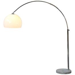Design Bogenlampe LOUNGE DEAL weiss Marmorfuss 175 bis 205 cm ausziehbar - 1