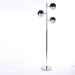 DESIGN LOUNGE 3 KUGEL STEHLAMPE von DESIGN DELIGHTS retro leuchte silber standlampe - 1