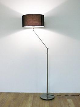 Design Stehleuchte mit schwarzem Lampenschirm, 164 cm, Kaja FL, 10262 - 1