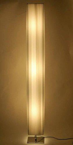 DESIGNER PLISSEE STEHLAMPE [TAZZINI], POMPÖSE 160cm HÖHE - 1