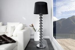 Elegante Design Stehlampe MIA mit schwarzem Schirm - 1