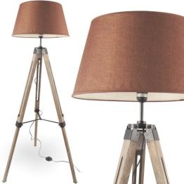 MOJO® Stehlampe Höhenverstellbar Stehleuchte Tripod Lampe Leselampe Dreifuss mq-l33 - 1