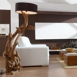 Standlampe RIAZ XL 200 cm aus Teakholz - 1