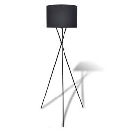 vidaXL Stehlampe Stehleuchte Leuchte Standleuchte Schwarz - 1