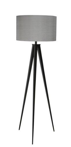 Zuiver 5000800 Floor Lamp Tripod, Metall, schwarz / grau - 1