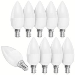 10 x mumbi XQ-Lite LED-Kerze E14 5,5W / dimmbar / 2700 Kelvin / warmweiß / 470 Lumen / Energieklasse A+ (ersetzt E14 40 Watt Kerze) - 1