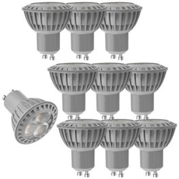 10x mumbi XQ-Lite LED-Lampe Spot GU10 MR16 4W / 3000 Kelvin / warmweiß / 230 Lumen / Energieklasse A+ (ersetzt GU10 MR16 35 Watt Glühbirne) - 1