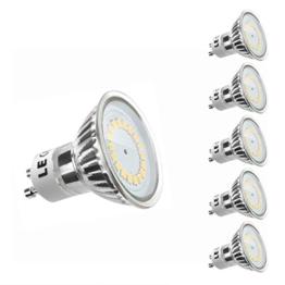 LE® MR16 GU10 LED Lampen, ersetzt 50W Halogenlampen, 3.5W 300lm, Warmweiß, 3000K, 120° Abstrahwinkel, LED Birnen, LED Leuchtmittel, 5er Pack - 1