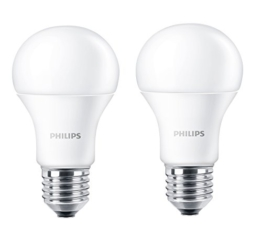 Philips LED Lampe ersetzt 60 W, EEK A+, E27, warmweiß (2700 Kelvin), 806 Lumen, matt, Doppelpack, 8718696491102 - 1